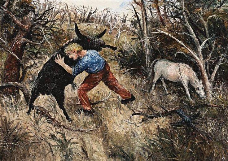 ARTHUR BOYD, (1920 – 1999), THE STRUGGLE, 1956, oil on canvas