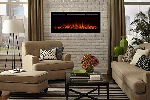 Best electric fireplace reviews - Touchstone Sideline Recessed Mounted Electric Fireplace