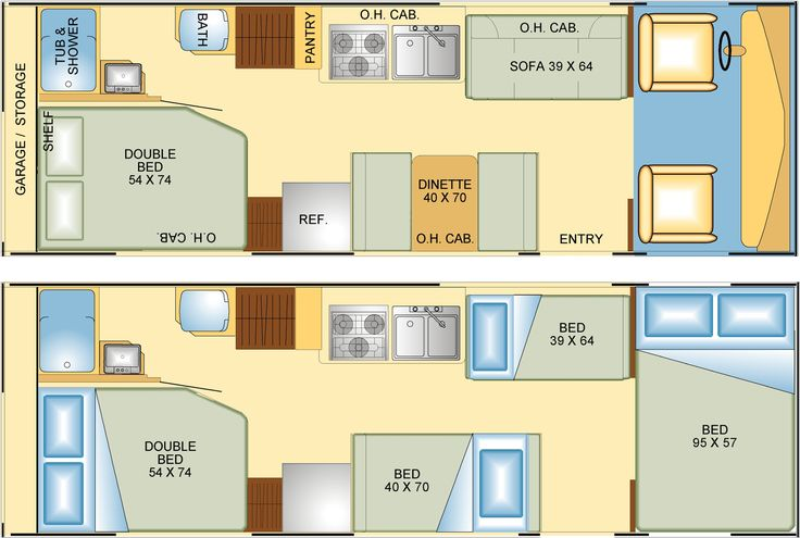 Rv Floor Plans Google Search Route 66 Pinterest