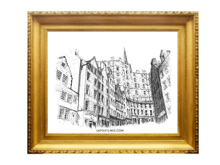 VICTORIA STREET print from original ink hand by shopLAYOUTLINES