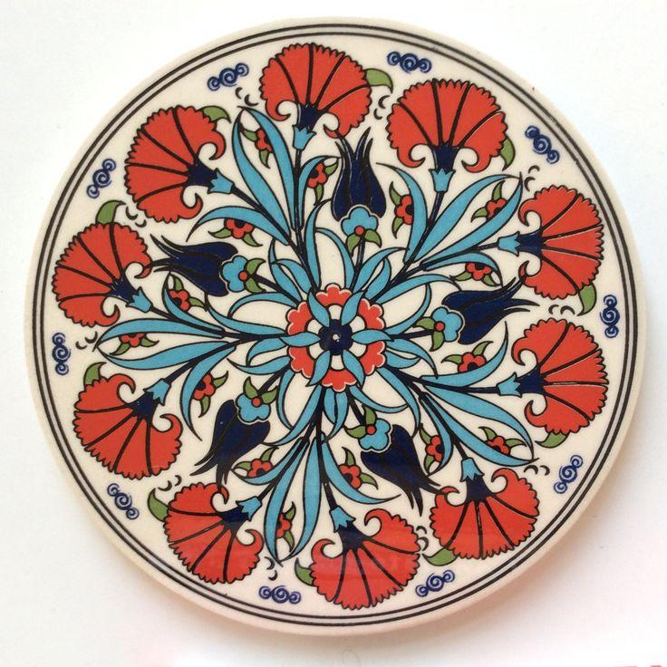 Floral Ceramic Trivet Iznik design