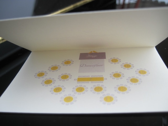 Map inside the placecard - great idea