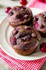 DECADENT CHOCOLATE CHERRY MUFFINS