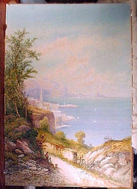 Edwin St John Lake Lugano Watercolor Painting 1910 Watercolour