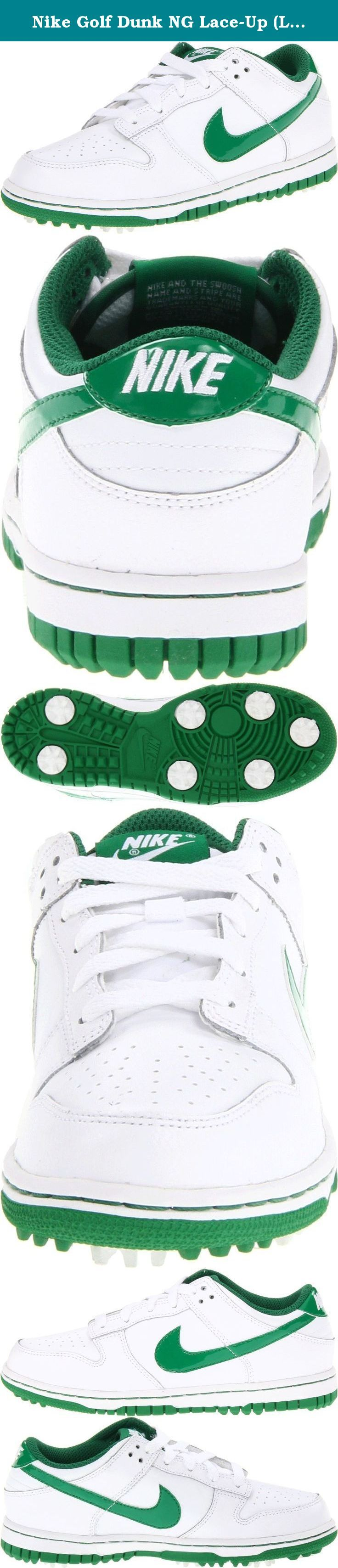 Nike Golf Dunk NG Lace-Up (Little Kid/Big Kid),White/Pine Green,6 M US Big Kid. Nike Dunk NG Junior Golf Shoes Nike Golf is passionately dedicated to ushering in the future of this great sport by developing groundbreaking innovations that enable athletes to perform at their physical and mental peak. We believe that your footwear is the foundation of every shot and have developed many styles to deliver comfort while promoting better balance, weight transfer and power through impact. Nike…
