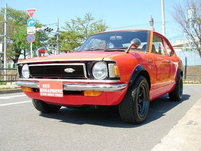 1972 TOYOTA COROLLA LEVIN - love the orange/red color!  www.westtowninsurance.com
