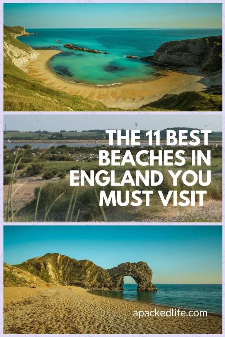 The 11 Best Beaches In England You Must Visit.  From the spectacular Jurassic Coast to the home of surfing, and from sandy bays to nature reserves and art installations, England's best beaches have got it all.  #seaside #bestbeaches #Englandbeaches