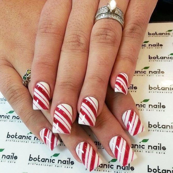 christmas nail art designs with themed ornaments - Simple Christmas Nail Designs