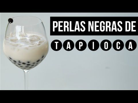COMO COCINAR DELICIOSAS PERLAS DE TAPIOCA RÁPIDO (BOLITAS NEGRAS) BUBBLE TEA - YouTube