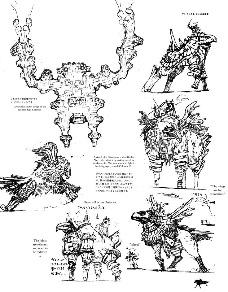 Shadow Of The Colossus; Unused Colossi