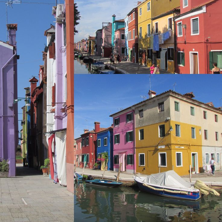 Colourful homes of Burano - it is said that it enabled the fishermen to find their homes after long periods at sea