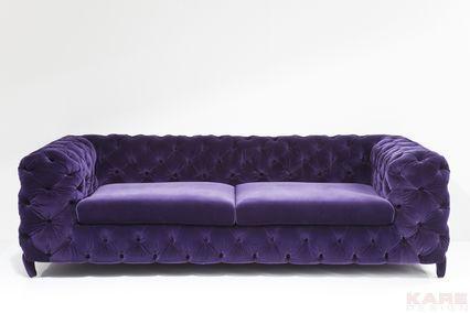 Sofa Desire Velvet 3-Seater Blackberry