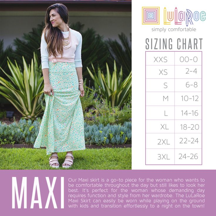 The LuLaRoe Maxi skirt is for women who might like the idea of spending all day in her pajamas, but still likes to look her best. Fashion meets comfort . Seriously ladies, this is our go to skirt. you can wear it while getting down on the ground to play with your kids and keep it on while effortlessly transitioning to a night on the town with a hot date . Get one, or ten. Avialable sizes XXS-3XL