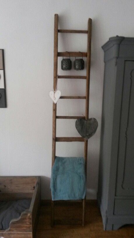Houten ladder  Home sweet home  Pinterest