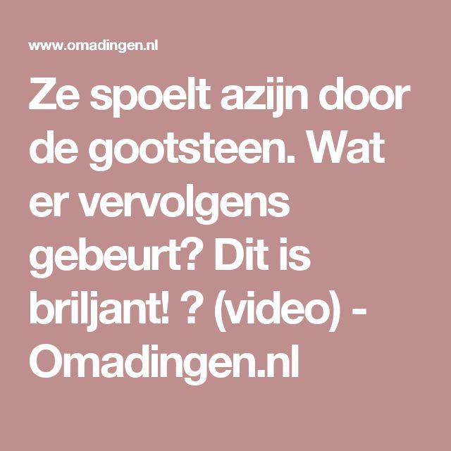 Ze spoelt azijn door de gootsteen. Wat er vervolgens gebeurt? Dit is briljant! 😲 (video) - Omadingen.nl