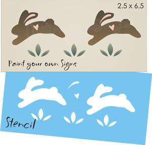 Easter Stencil Jumping Bunny Peter Rabbit Sign Spring Border Primitive Bedroom | eBay