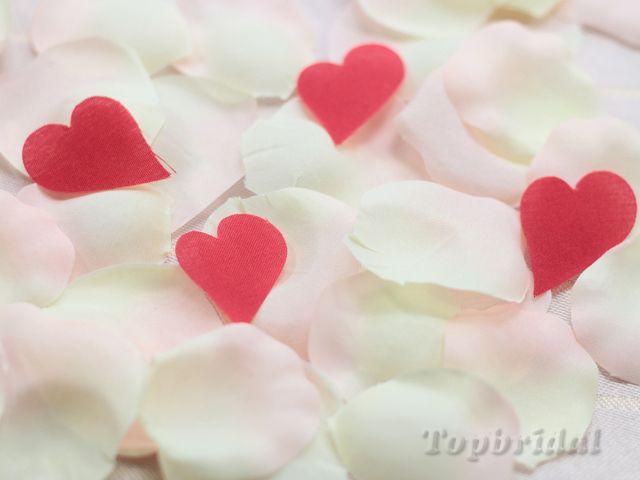 結婚式演出のハートイン フラワーシャワー (ピンク)