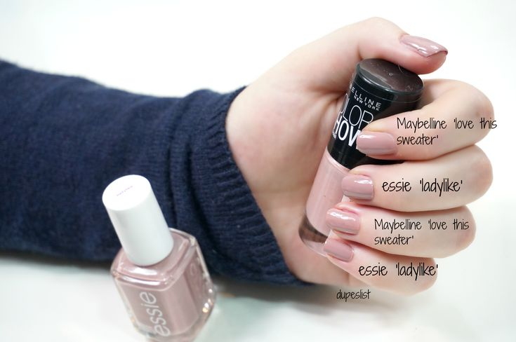 essie ladylike Dupe: Maybelline '301 love this sweater'