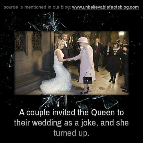 Couple invited the Queen to their wedding