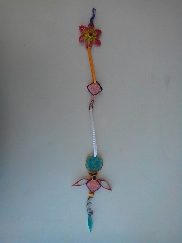 Quiled Wind chime-Didn't want to waste the shapes i made to learn quiling.