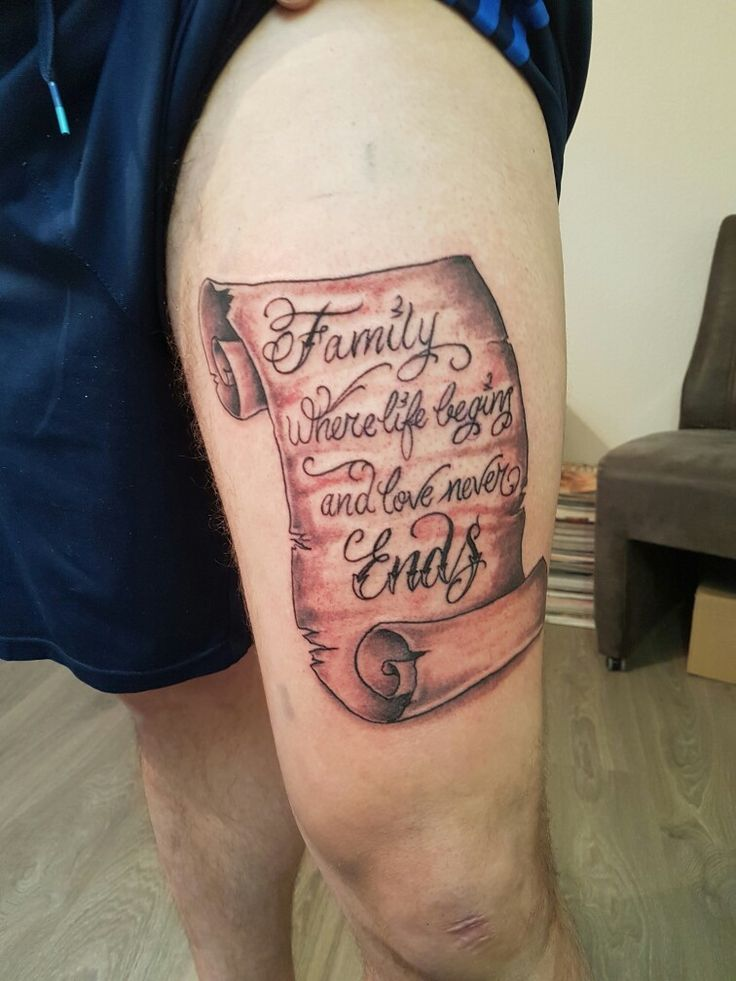 Tattoo scroll