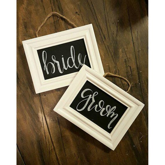 Wedding Chalkboard signs wedding chair by ChalkaholicDesigns
