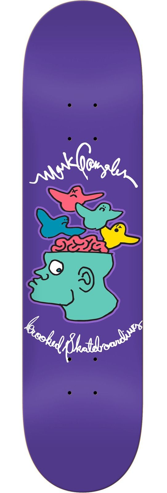 Krooked Skateboards Mark Gonzales Brain On Birds Skateboard Deck