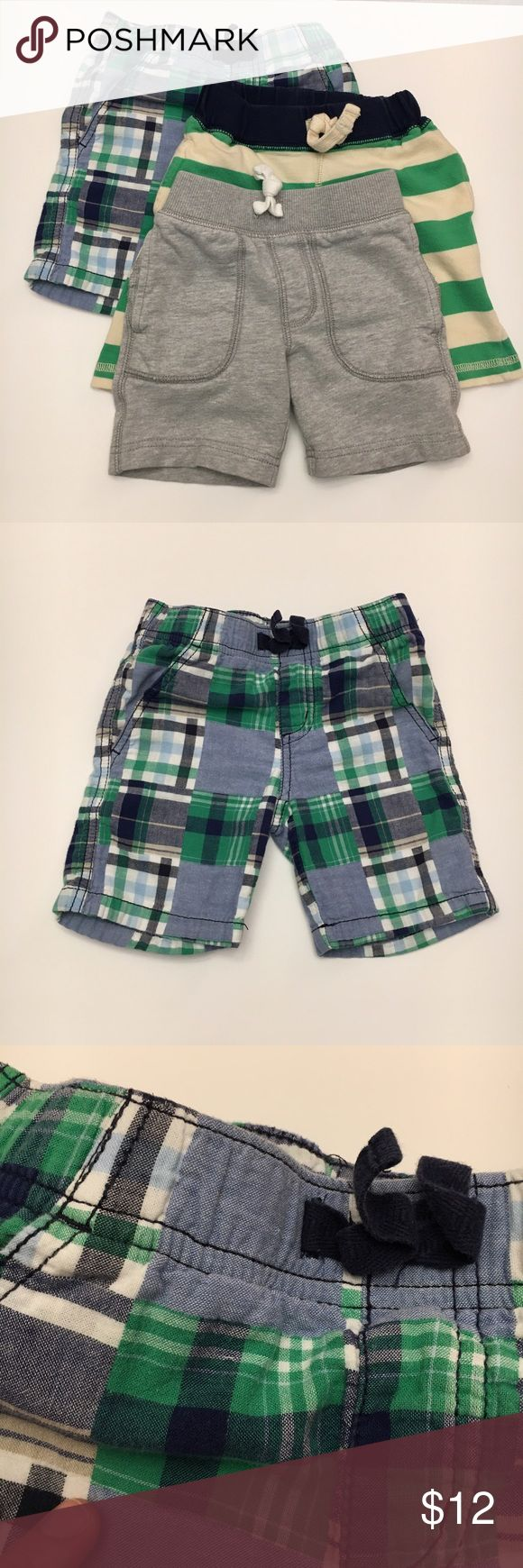 (3) Bundle Gymboree and Carter's Boys Shorts Triple bundle of shorts in GUC. The gray shorts are Carter's, and the remaining two pairs are Gymboree. Pair these shorts with just about any t-shirt and you have an outfit your cool little guy will love. Gymboree Bottoms Shorts