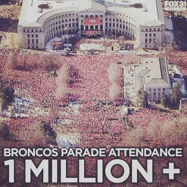 Super Bowl 50 in Santa Clara, CA. This was the sight for Denver Broncos 3rd World Championship Super Bowl victory. Then back to the Mile High City in Civic Center Park where a mob of Orange celebrated.