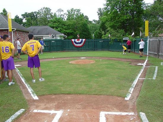 Image result for tennis ball baseball backyard