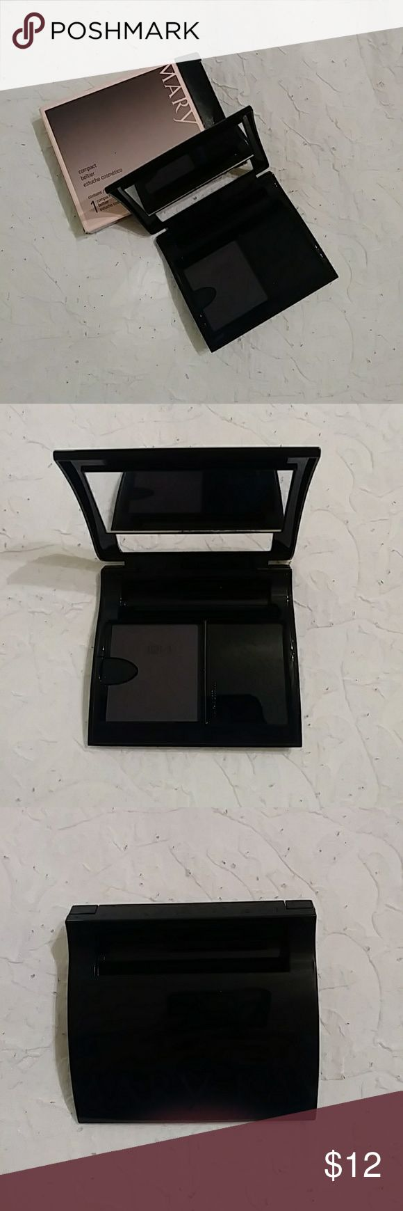 Mary Kay Compact New in Box  Mary Kay Compact with mirror . Fill with your favorite colors  Has a place for a lipstick also  💄 Mary Kay Makeup Brushes & Tools