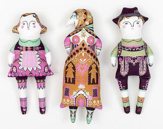 Hansel and Gretel / Cloth Kit A silkscreen design by sarahyoung5