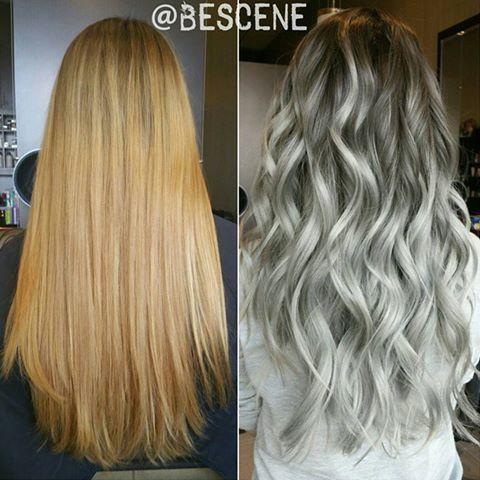 Een terugblik op deze kleur transformatie deed ik een paar maanden geleden.  Ik wilde de formule met jullie delen!  Ik Balayage gebruik @Schwarzkopfusa #blondme 30vol.  met @Olaplex.  Basis: 5-1, E-1,0,22 20vol.  Eindigt: 9.5-49,10-1,0-22 7vol. Veel plezier!  #bescene