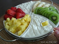 Coconut Cream Fruit Dip **you guys, this stuff is so amazing, you could eat it with a spoon!!**