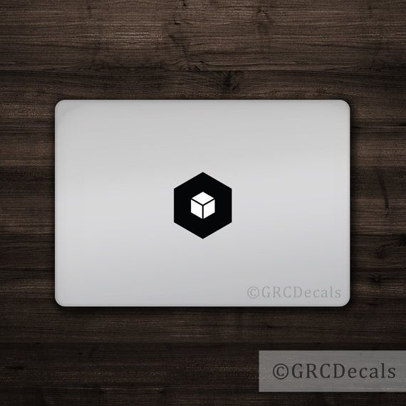 Cube - Vinyl Macbook Logo Cover  Fits all Macbooks including the Macbook Pro, Macbook Air, and old Macbooks   All decals are cut from high quality