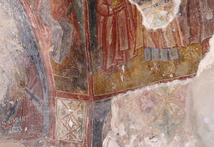 Detail der Wandmalereien in Agios Nikolaos auf Kreta.  http://www.claudoscope.eu