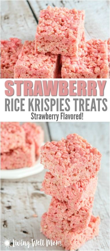 Here's a fun twist on a classic - this Strawberry Rice Krispies Treats recipe is strawberry flavored, thanks to a special secret ingredient! It's a good thing they're just as easy to make as the original version because they never last long!