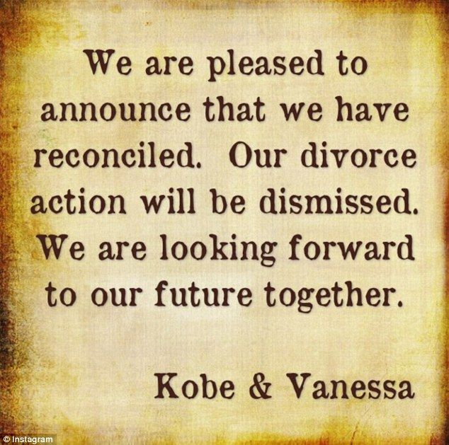Vanessa posted the couple's statement on Instagram~ nice!