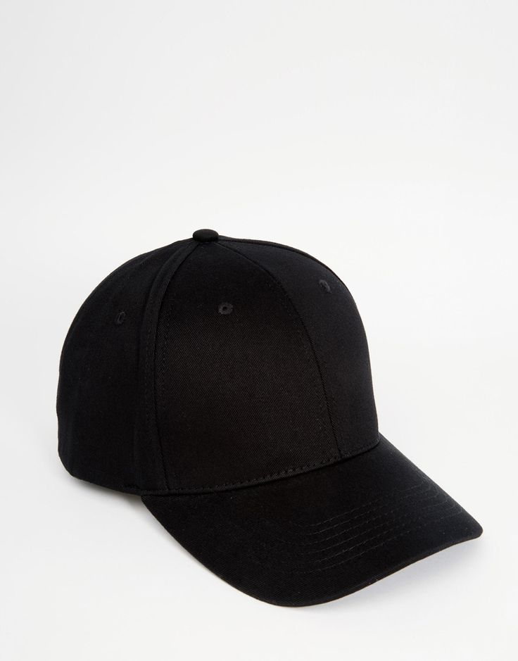 Image 1 of ASOS Baseball Cap In Black