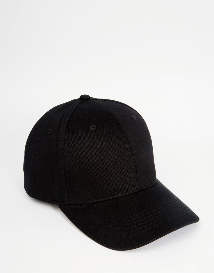 Image 1 ofASOS Baseball Cap In Black