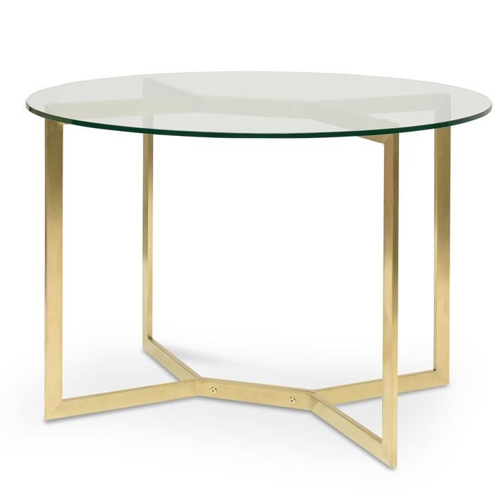 Cannon 1 2m Round Glass Dining Table Gold Base Interior