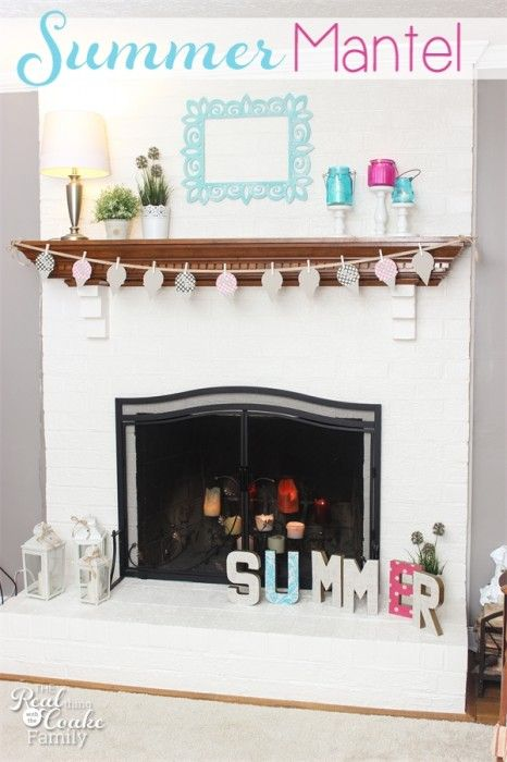 17 Best images about Papel, Carton on Pinterest  ~ 141146_Fireplace Mantel Decorating Ideas For Summer