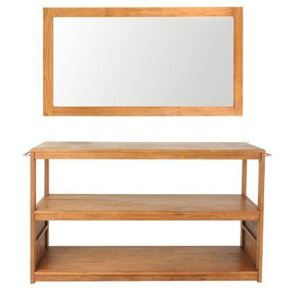 Meuble sous vasque yogya alin a for Alinea meuble sous vasque