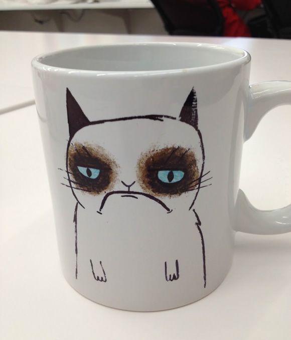 Caneca do Gato Mal-humorado é perfeita para quem acorda de mau humor