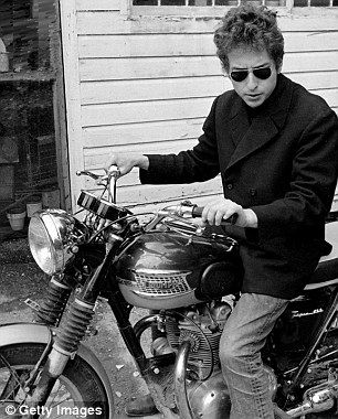 Bob Dylan and Triumph - not sure rides bikes these days, this is probably circa 1966