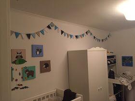 Det kreative hjørne..: Flag! Det skal fejres.. - Boys room - DIY - paperflag