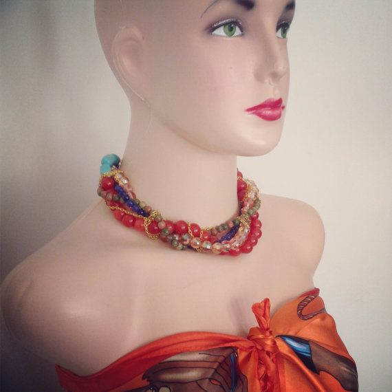Bali Choker to Cover Wrinkles by GraceSabarus on Etsy, $69.00