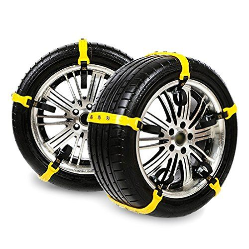 Tire Chains for Cars Tire Chains Emergency for Car/Vehicle/SUV/Truck Portable Anti-Skid Snow Chains with bag - Tire Chains for Cars Tire Chains Emergency for Car/Vehicle/SUV/Truck Portable Anti-Skid Snow Chains with bag Specification: 1. Suitable for such of kind cars, SUV, sedan, MPV, vehicle and light truck. 2. Be better keep the car's speed under 40 km/h. 3. This tire chain is not suitable for braking ...