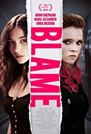 Blame centers on Abigail, an outcast at a small suburban high school. She is returning for the first time after a mysterious event the previous year. Facing constant bullying, she escapes from her hostile surroundings by immersing herself in the worlds of the characters she reads about, much to the amusement of her manipulative classmate Melissa.