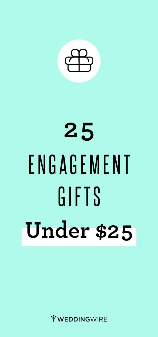 Know someone who just got engaged? Send them a congratulatory gift! Click through for 25 cute and thoughtful gifts any engaged couple is sure to love, all under $25!